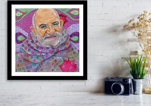 Baba Neem Karoli Framed Art.png