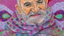 L O V E  Everyone; Baba Neem Karoli Fabric Portrait