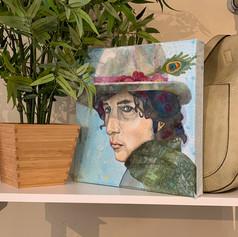 Bob dylan fabric portrait
