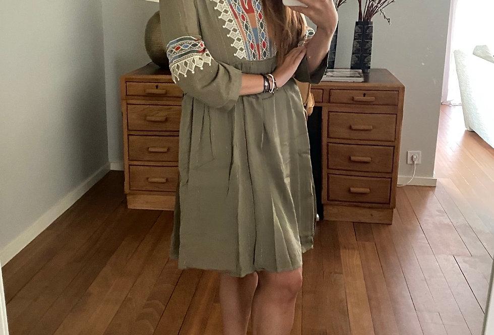 Vestido com fio dourado Meisie | Green&Gold Meisie dress