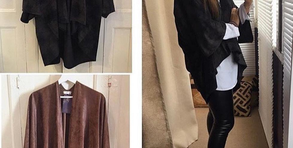 Kimono pele de pêssego castanho