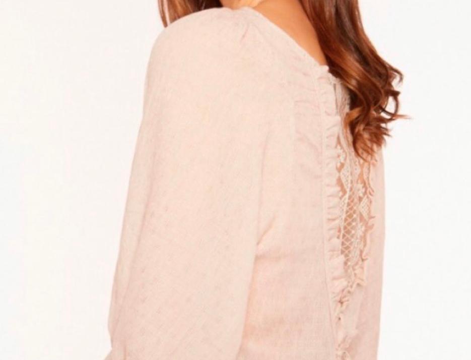 Blusa com costas em renda Meisie | Back lace shirt