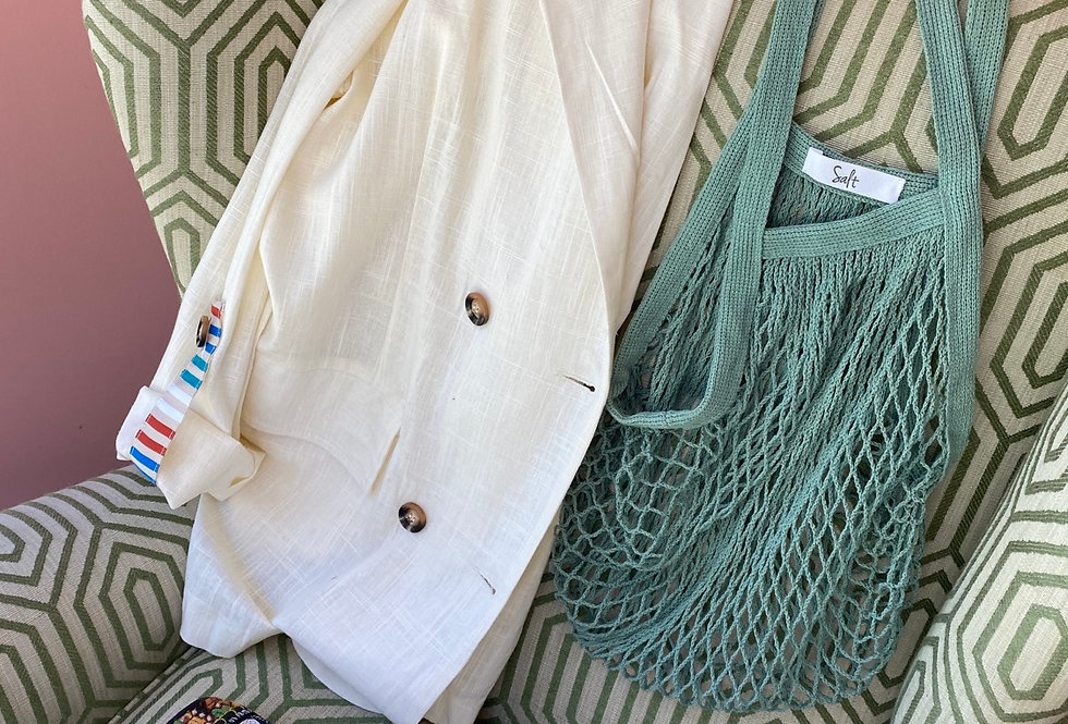 Casaco linho Meisie | White linen Meisie jacket
