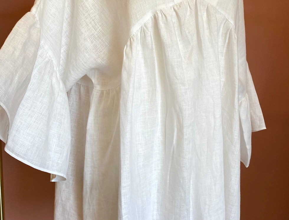 Vestido linho Salt | White linen Salt Exclusive dress