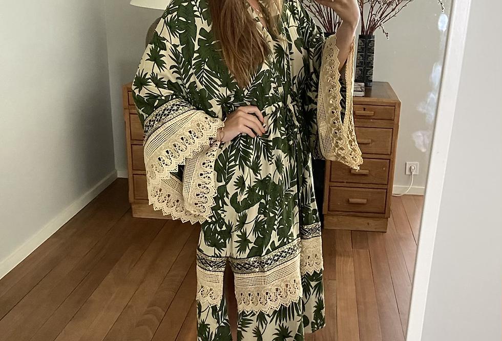 Kimono Shadows verde Meisie