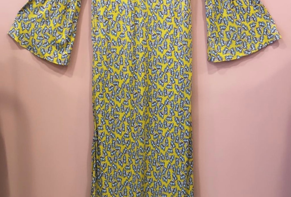 Vestido de malha Borboletas Salt exclusive   Salt exclusive Butterfly long dress