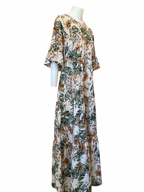 Vestido garden Meisïe   Flowers print long dress