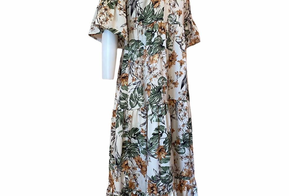Vestido garden Meisïe | Flowers print long dress