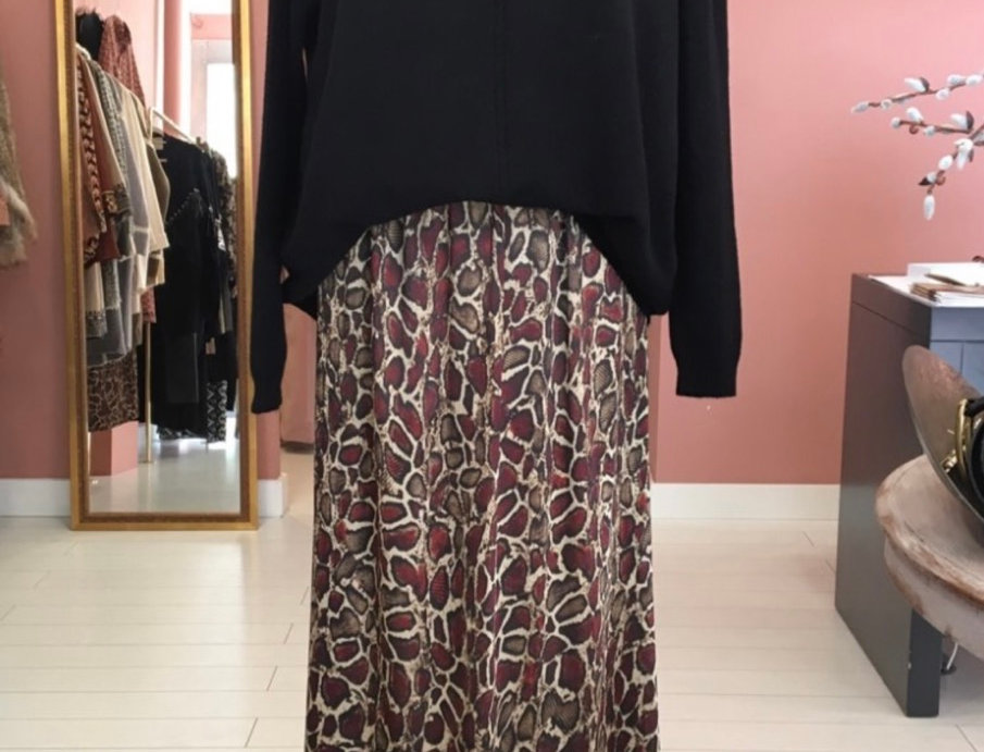 Saia animal print Salt exclusive | Salt exclusive animal print long skirt