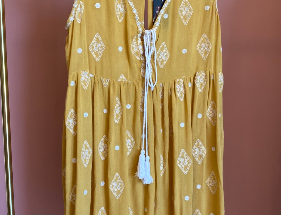 Vestido amarelo Luna | Luna boho yellow dress