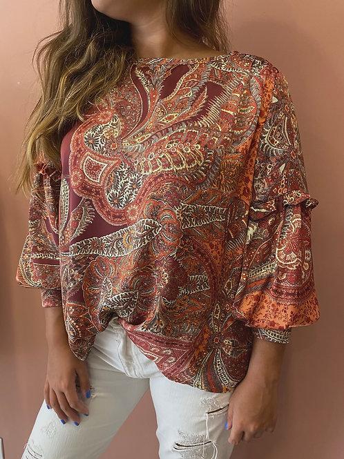 Blusa paisley Salt exclusive | Salt exclusive paisley blouse