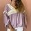 Thumbnail: Blusa jaquard lavanda Meisïe | Lilac jaquard Meisie tunic