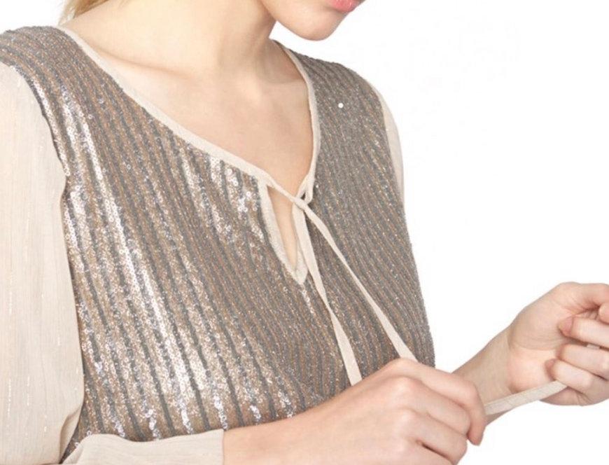 Blusa fio prata Meisie I Meisie silver blouse