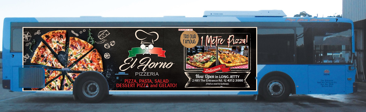 Bus Advertisement | El Forno Pizzeria