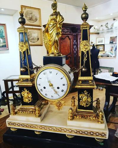 #orologio#parigi #marmo#bronzo#ottone#og