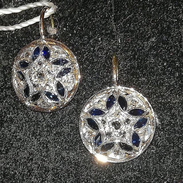 #orecchini#zaffiri#diamanti #oro#monache