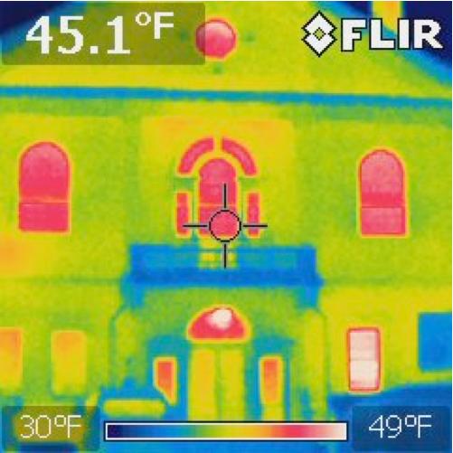 infrared image of Bemis Hall