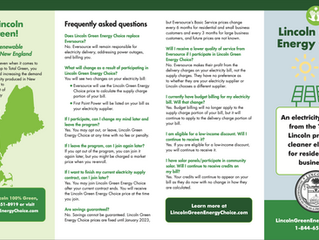 Lincoln Green Energy Choice Answers Your Questions!