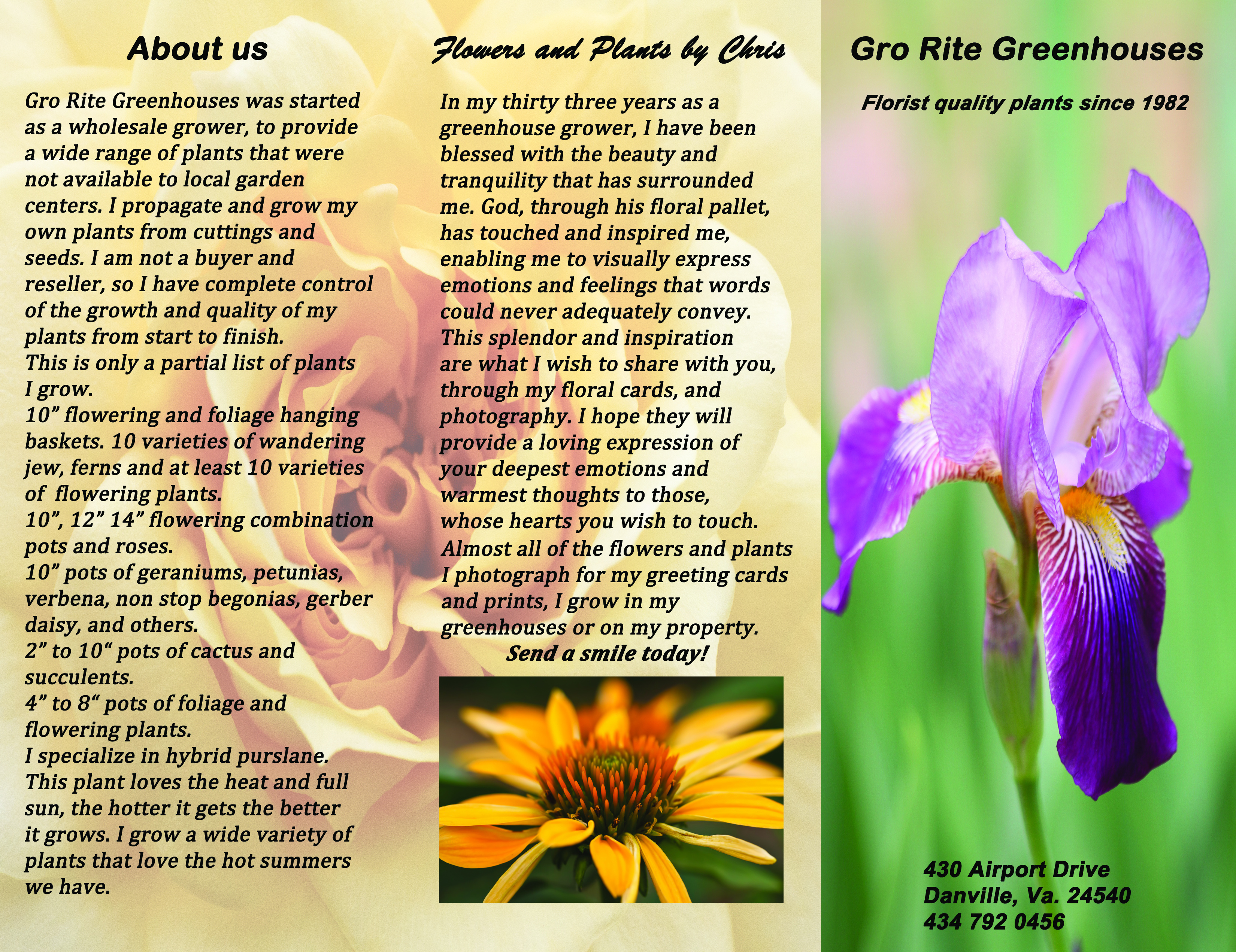 Gro Rite Greenhouses brochure