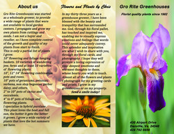 Gro Rite Greenhouses brochure