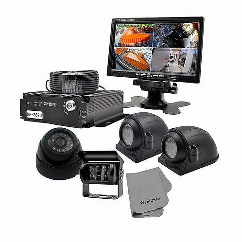 FP 960P 4CH SD Card Mobile DVR Video Recorder Set