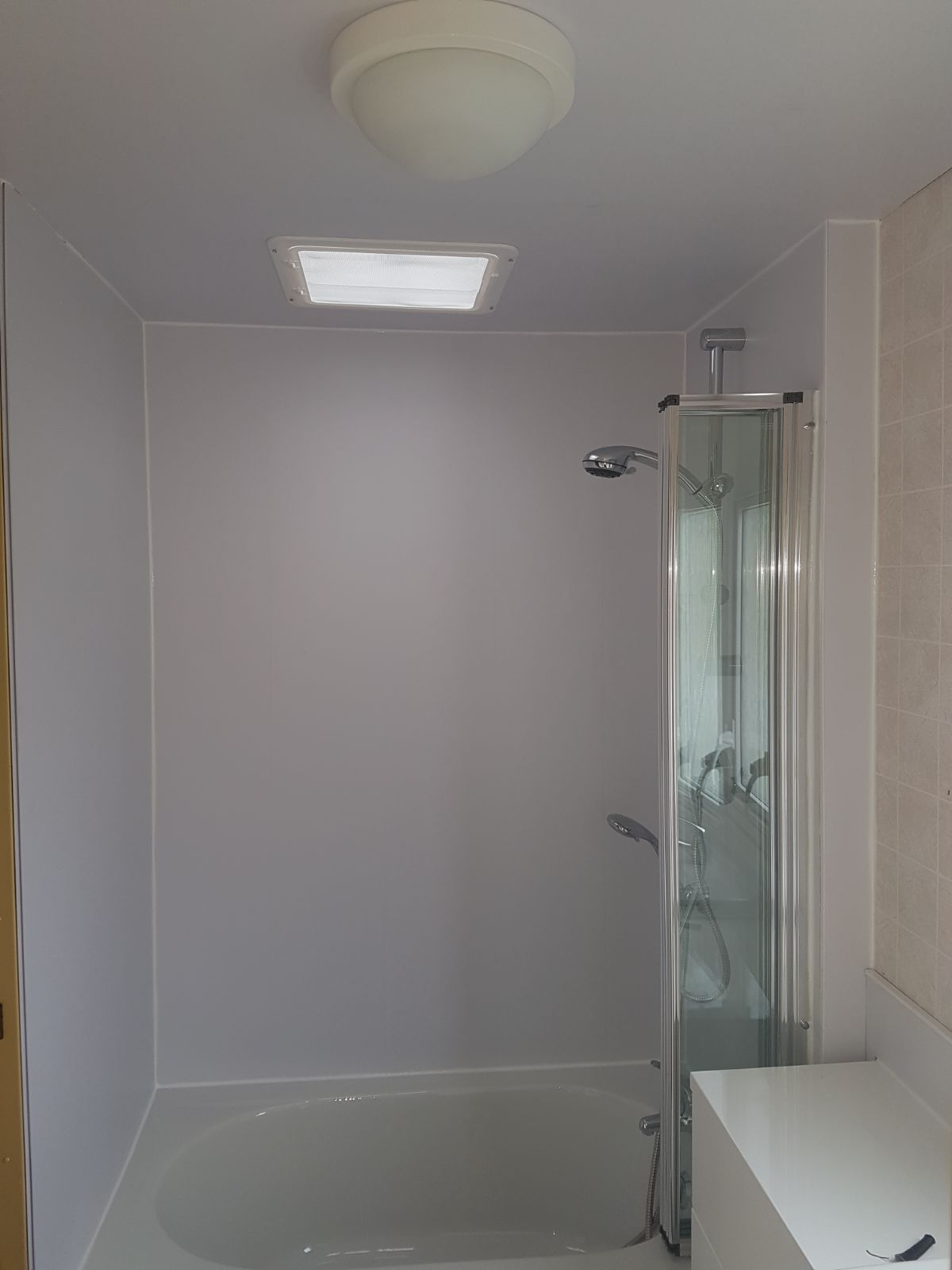 wall cladding in shower area