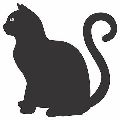 Adesivo Gato Sentado