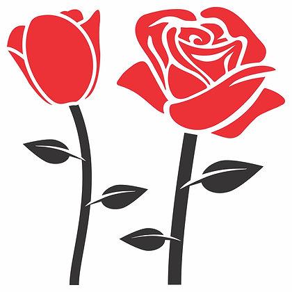 Adesivo Rosas - 2 cores