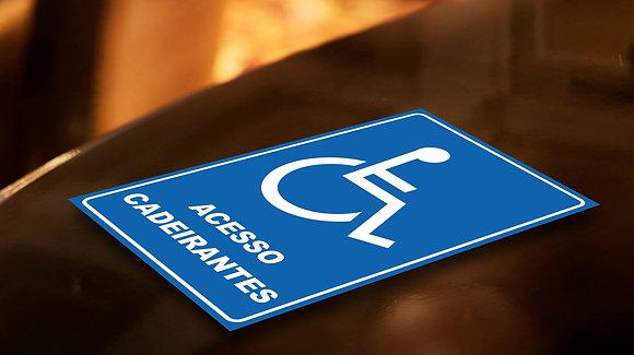Placa PVC Cadeirantes