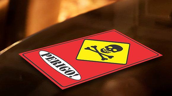 Placa PVC Perigo