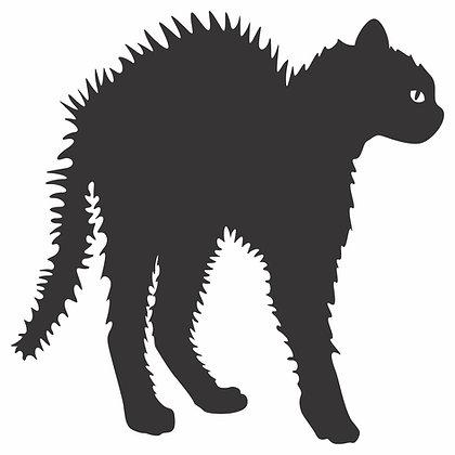 Adesivo Gato Arrepiado