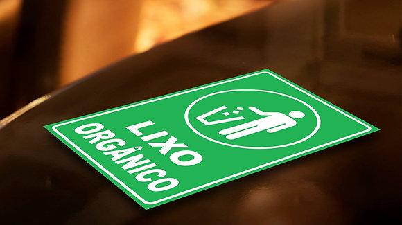 Placa PVC Lixo Orgânico