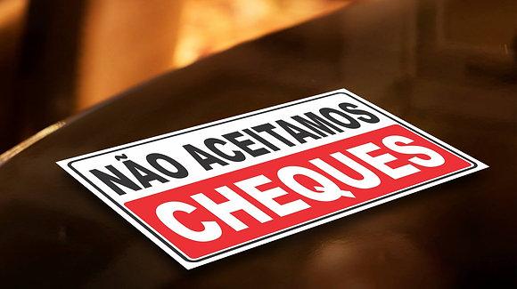 Placa PVC Cheques
