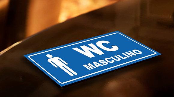 Placa PVC Banheiro Masculino 2