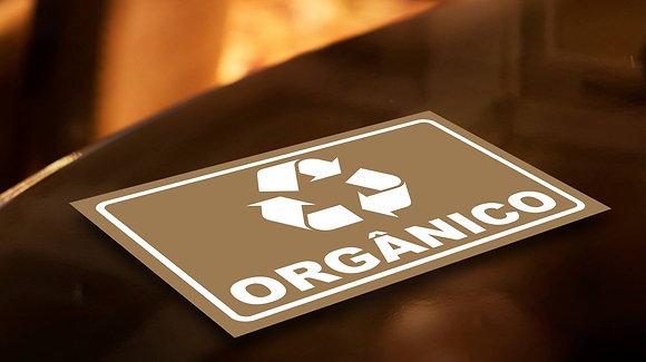 Placa PVC Reciclagem Orgânico