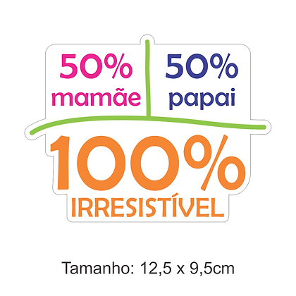 Adesivo 100% Irresistível