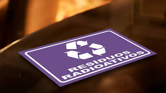 Placa PVC Reciclagem Radioativos