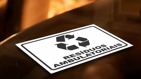 Placa PVC Reciclagem Ambulatoriais