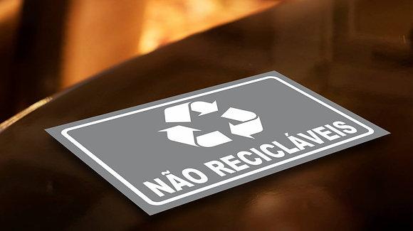 Placa PVC Não Recicláveis
