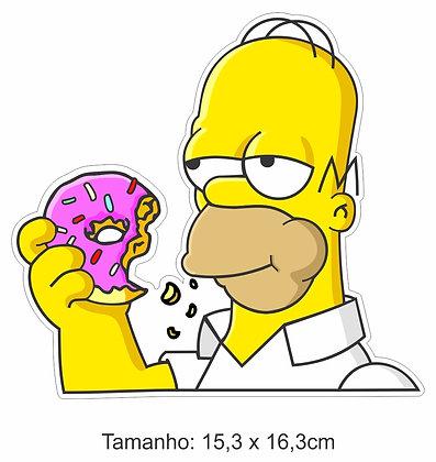 Adesivo Homer Donut