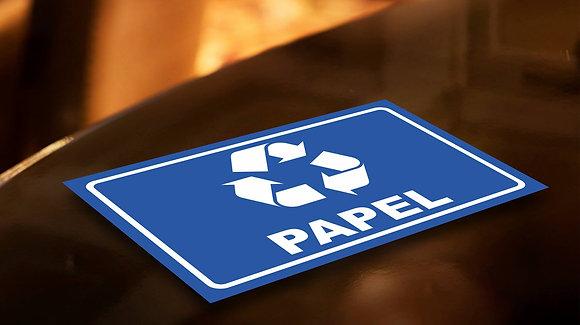 Placa PVC Reciclagem Papel