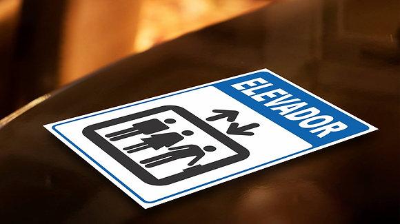Placa PVC Elevador