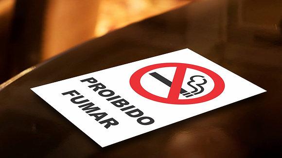 Placa PVC Proibido Fumar
