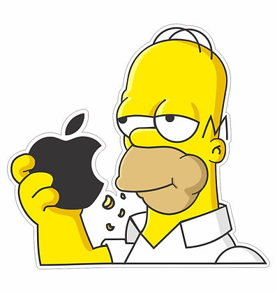Adesivo Homer Apple