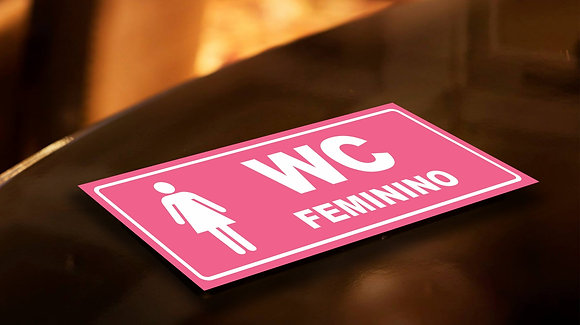 Placa PVC Banheiro Feminino 2