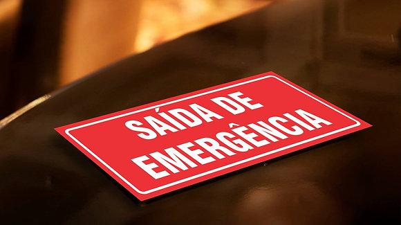Placa PVC Saída de Emergência