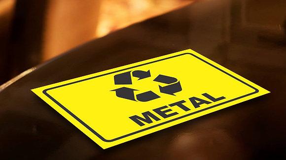 Placa PVC Reciclagem Metal
