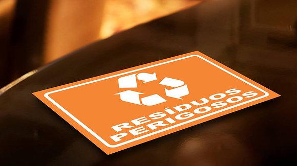 Placa PVC Reciclagem Perigosos