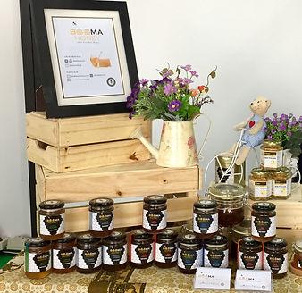 beema honey stall at weekend organic market Lippo mall Puri