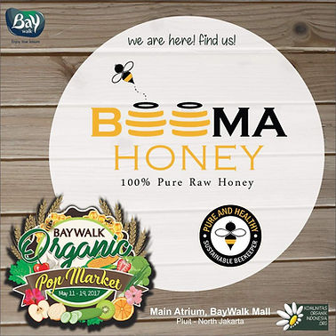 beema honey at Baywalk organic pop up market